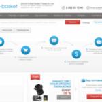 Описание сайта big-basket.net и предлагаемых им услуг