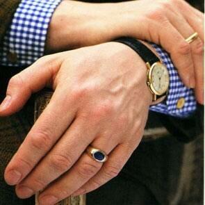 Как носить мужские кольца?