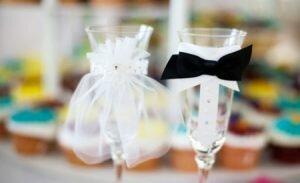 Бокалы для свадебных торжеств